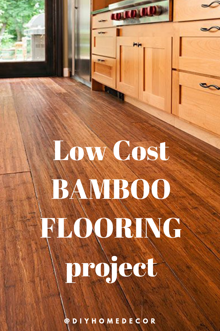 Low Cost Bamboo Wood Flooring Project For Your Living Room