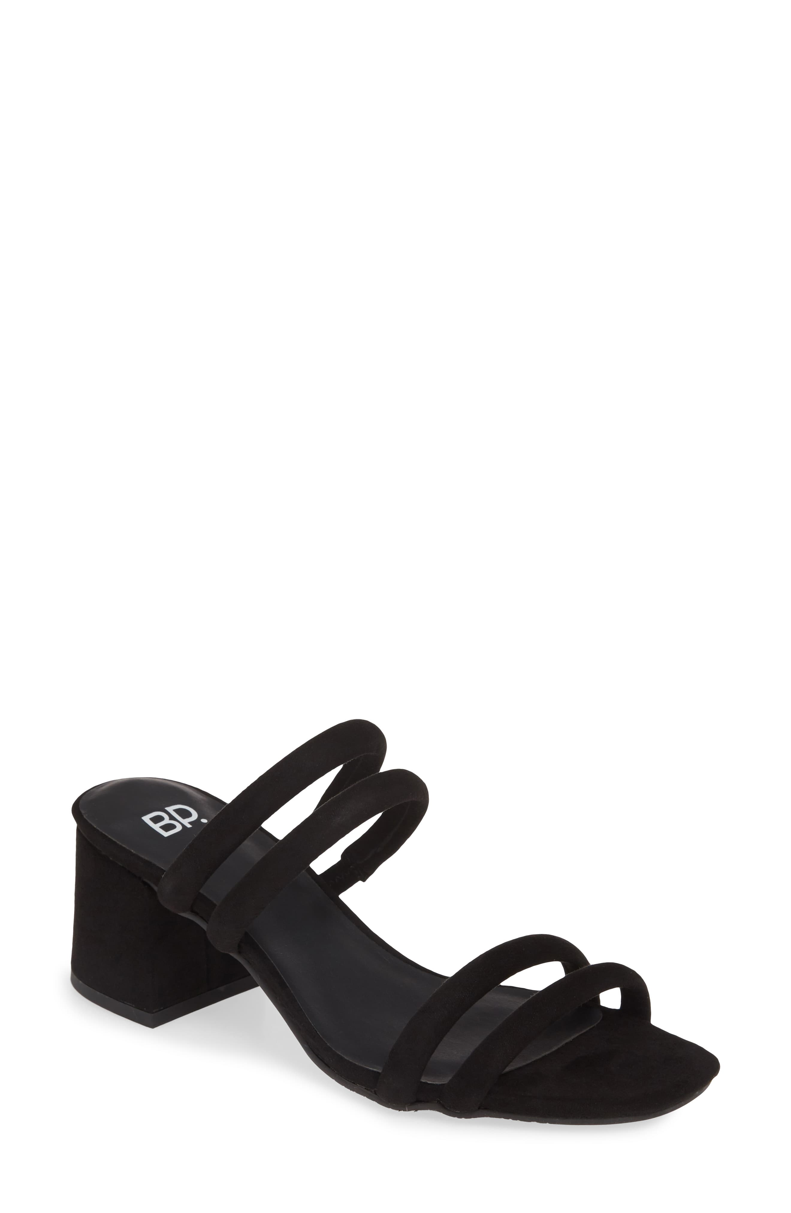 8b94d033fd2 Women's Bp. Lucia Block Heel Slide Sandal, Size 5 M - Black in 2019 ...