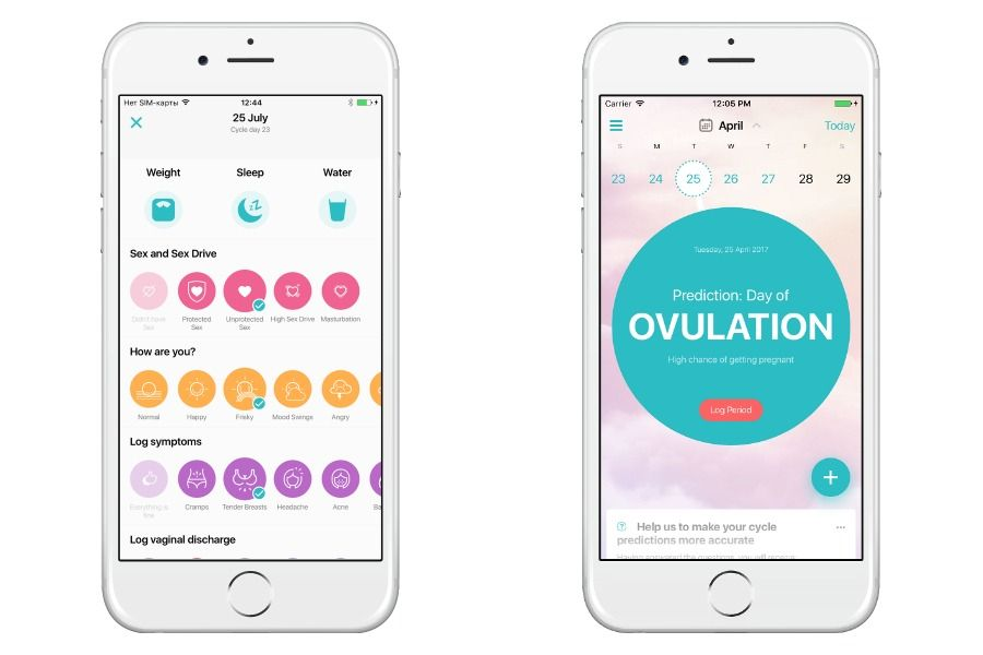 The Flo period app Because yes, you really need one