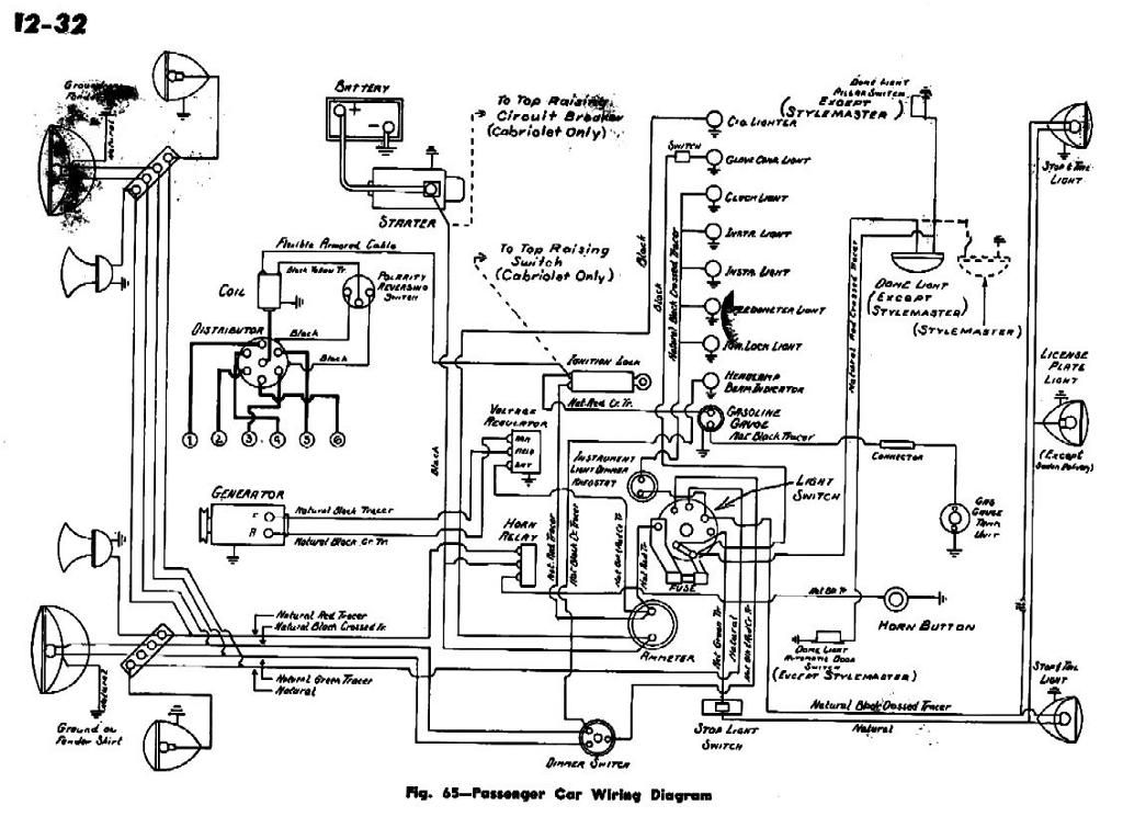 electrical wiring diagram for 1942 chevrolet passenger cars