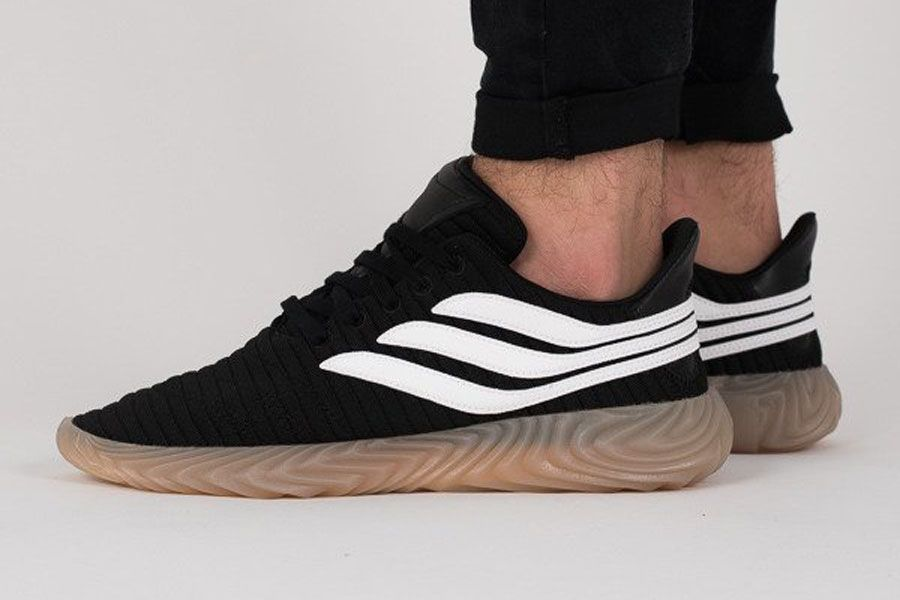 37452ea1e7e7bc adidas Sobakov Core Black Ftwr White Gum (AQ1135) - On feet (Side ...