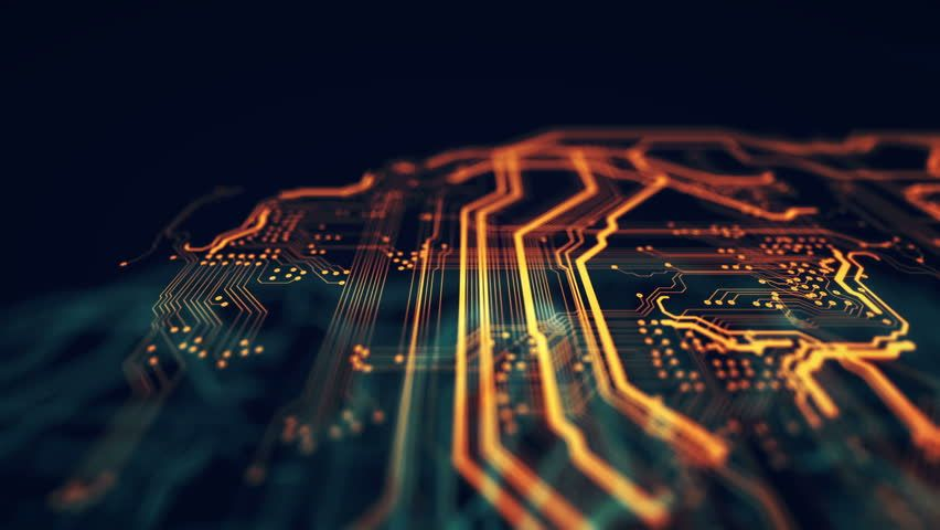 Get A 20 Second Orange Green Technology Background Circuit Stock Footage At 30fps 4k And Hd Vide Futuristic Technology Green Technology Technology Background