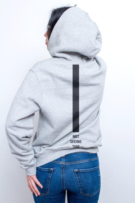 636d73fca Not seeing this jumper | Grey hoodie | Aesthetic sweatshirt | Minimal  sweatshirt | Aesthetic hoodie