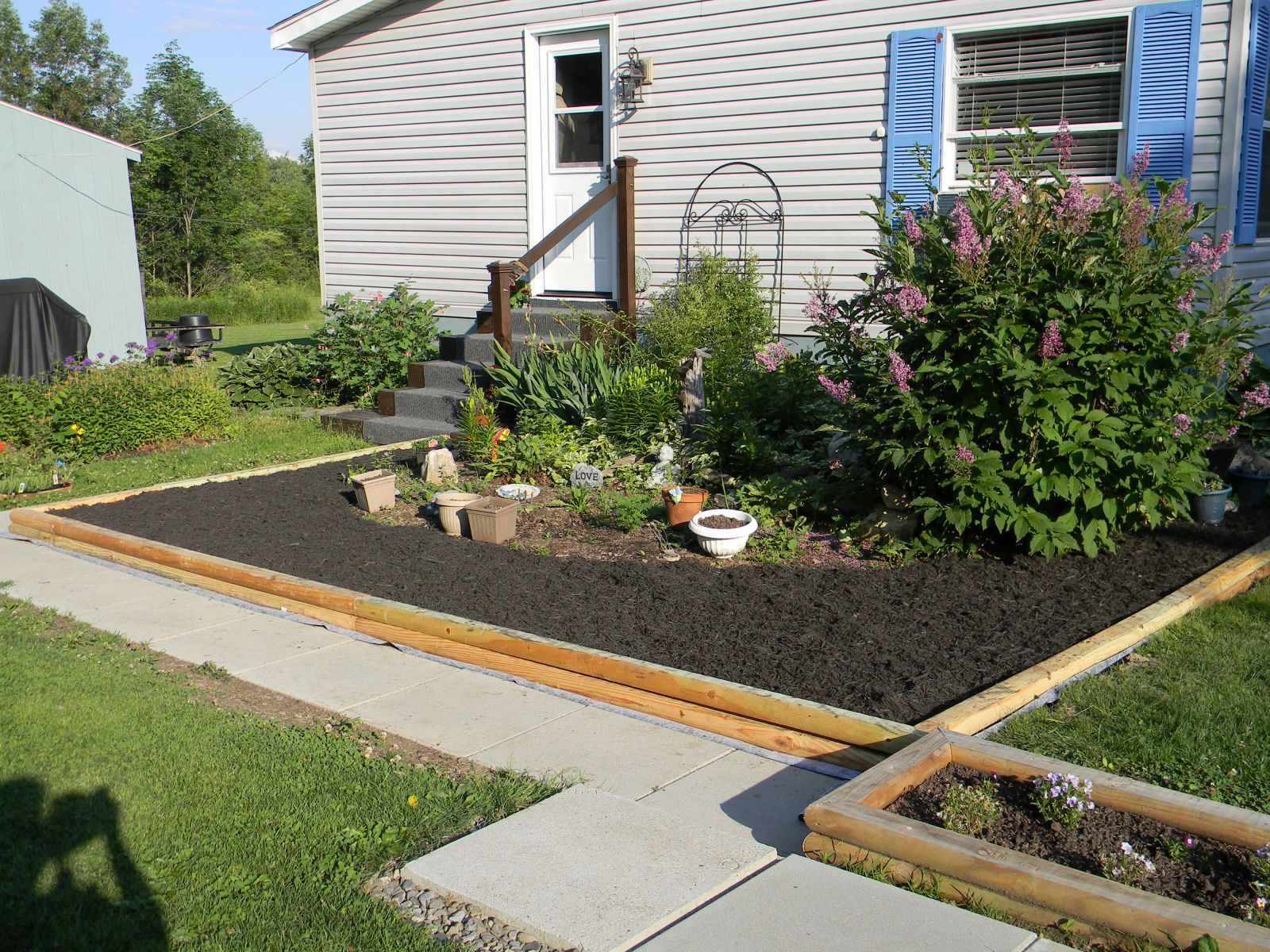 Double Wide Landscaping Ideas For Mobile Homes Mobile Home