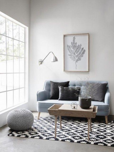 Retro Sofa, Sofa grau, Sofa modern, Sofa design, sofa hübsch, sofa - wohnzimmer petrol grau