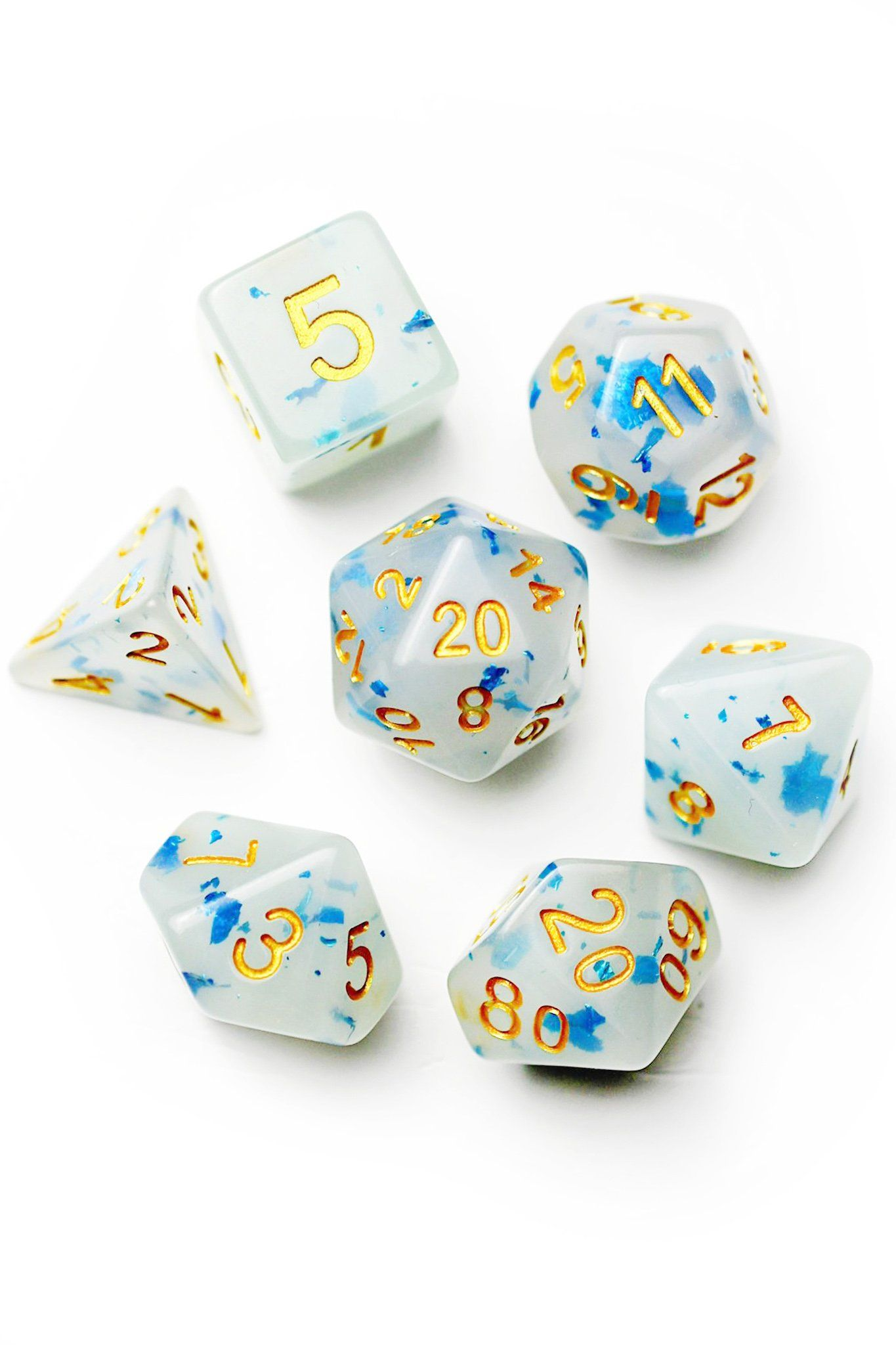 Ethereal SemiTranslucent Acrylic Dice Set in 2020