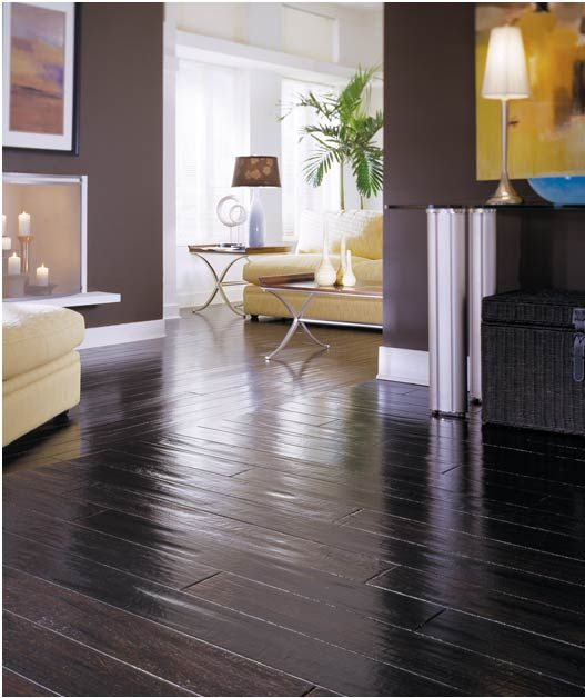Dark Hardwood Floors Different Directions To Create Separation Hardwood Floors Flooring Handscraped Hardwood