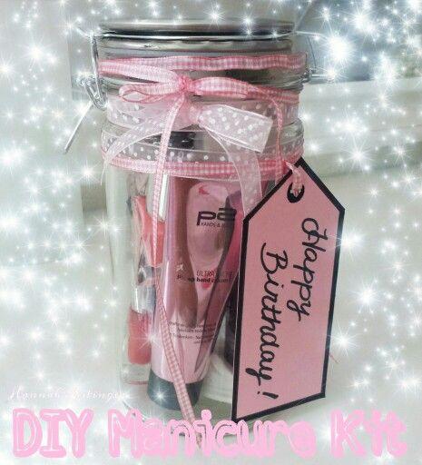 DIY Manicure Kit In A Jar Mason Jar / Nail Polish / Gift
