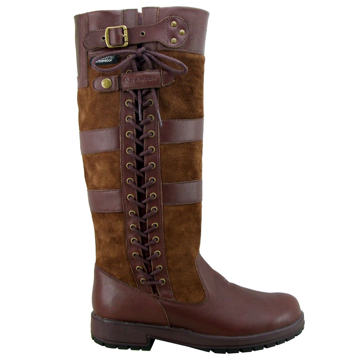 Kanyon Outdoor Yew Country Boot Unisex Chocolate Waterproof Leather Boots Boots Wide Boots