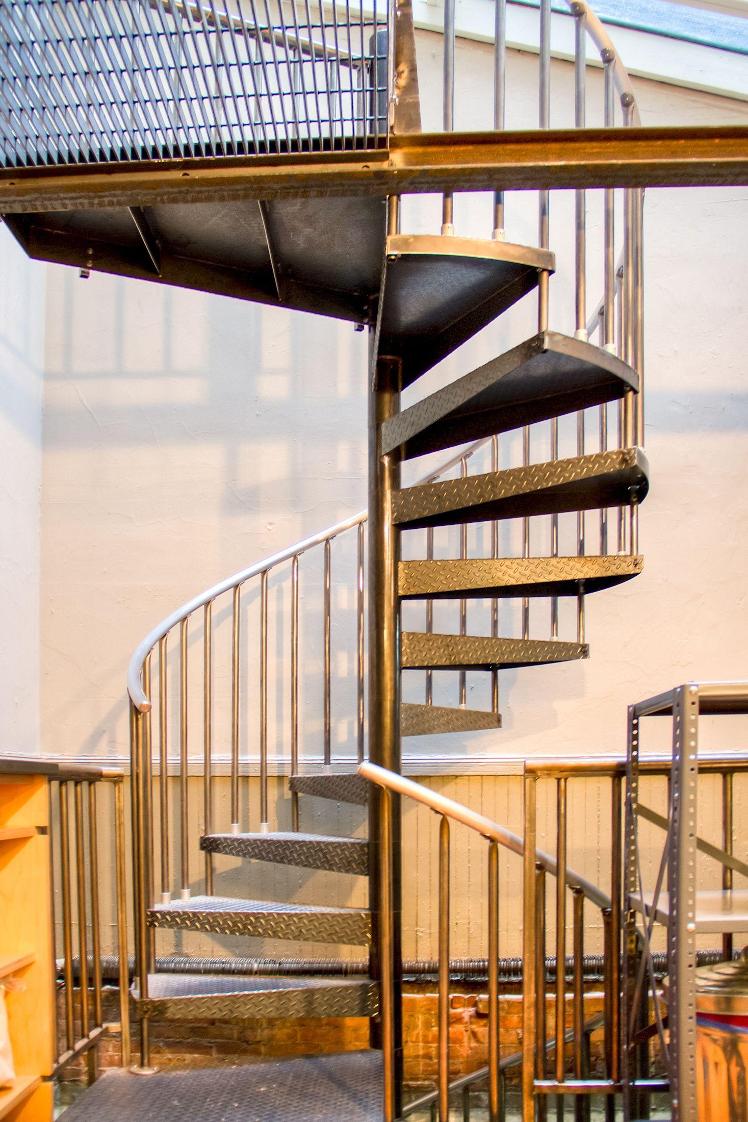 Raw Steel Spiral Stair