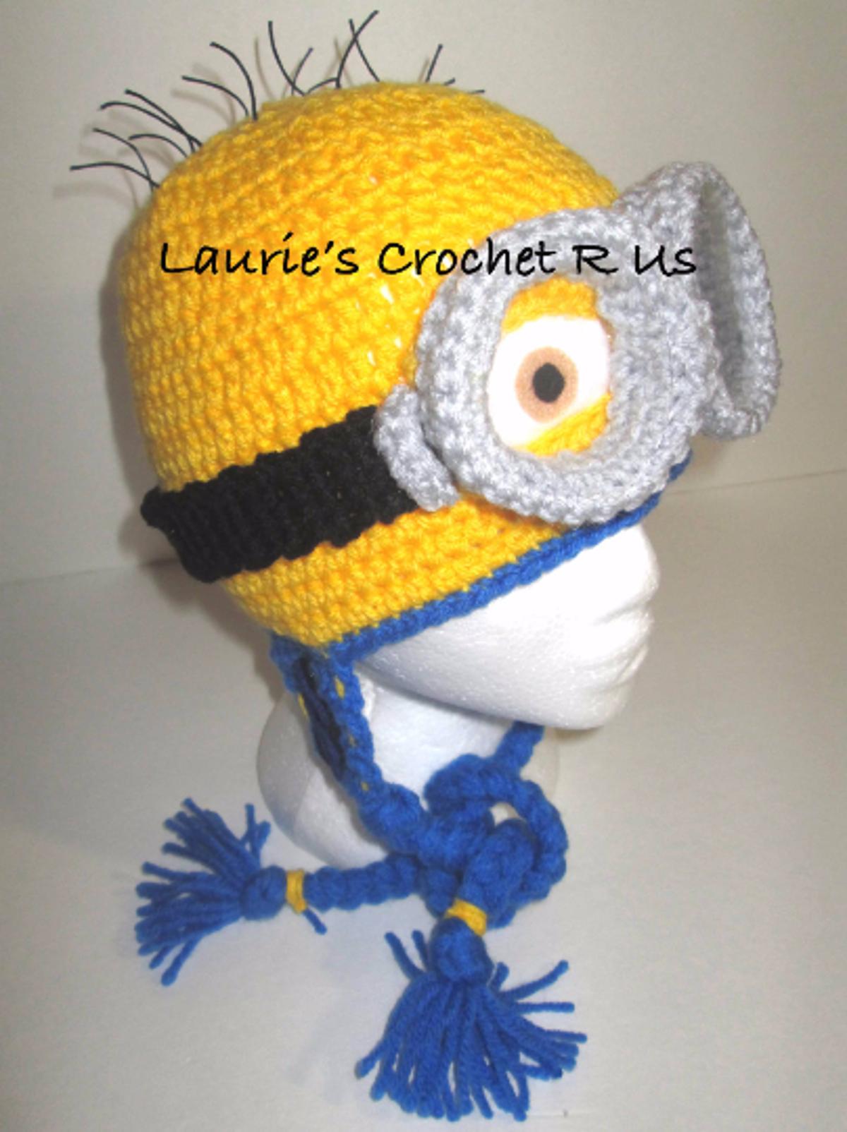 Crochet Minion Hat newborn to adult | Crochet minion hats, Crochet ...