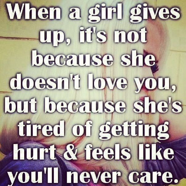 Tired Of Being In A Relationship Quotes: Tired Of Getting Hurt