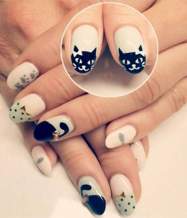 15 Cat Nail Art Manicures for the Cat Lover That You Are. #8 Is Too ...