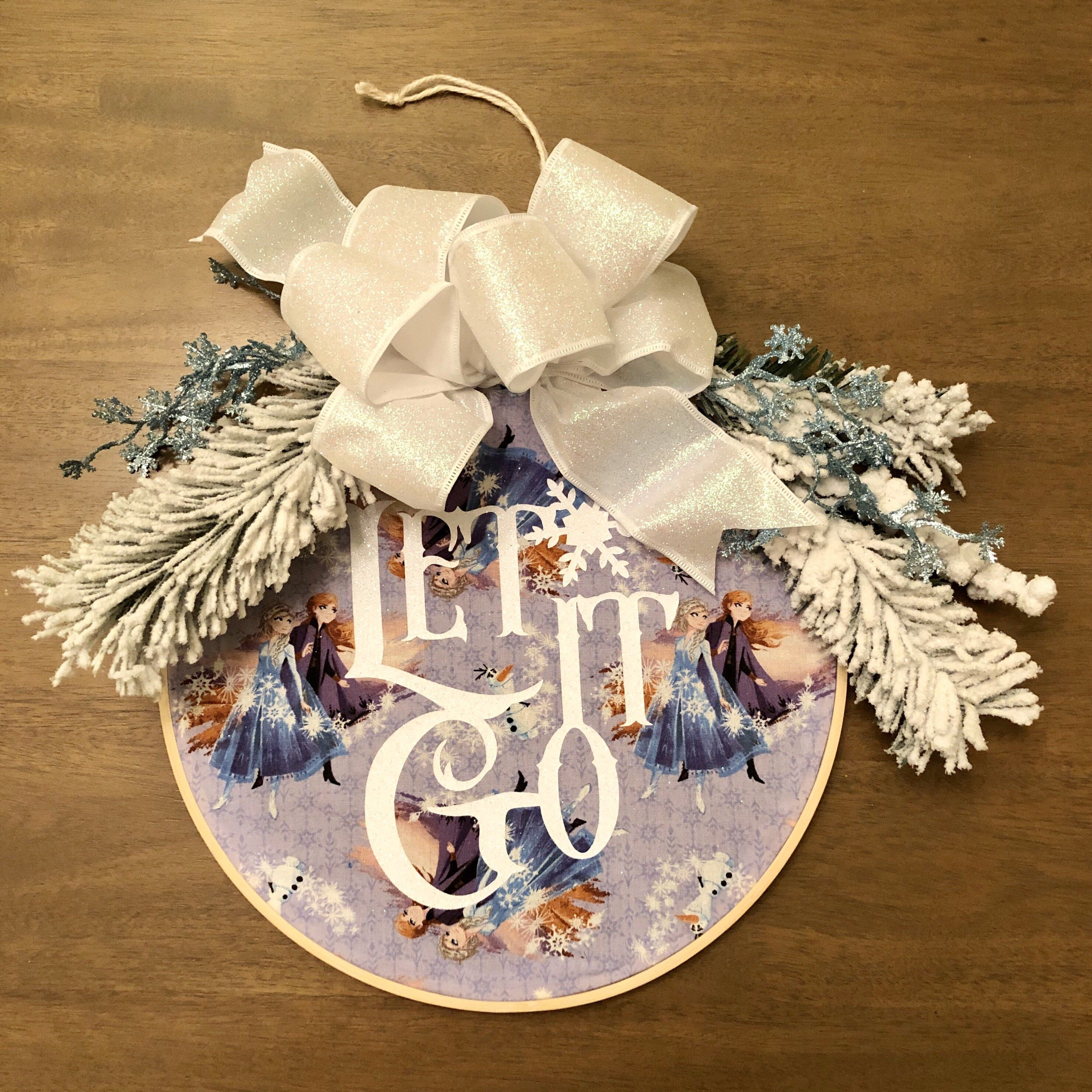 Photo of Christmas Buffalo Plaid, Let It Snow Hoop Wreath, Christmas Embroidery Hoop Wreath, Merry Christmas Hoop Wreath, Trending Now