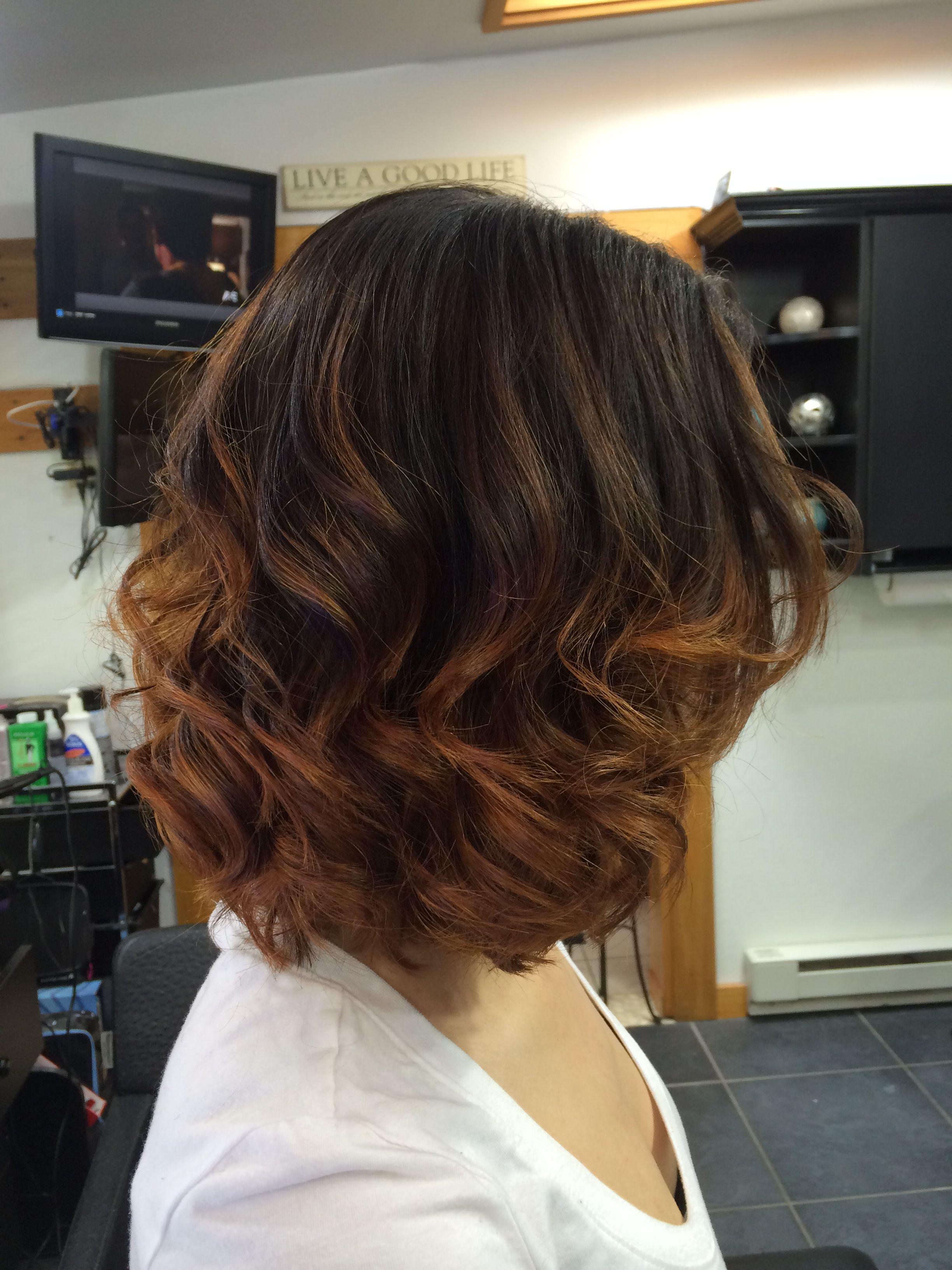 Golden copper ombre on short hair hair ideas pinterest best