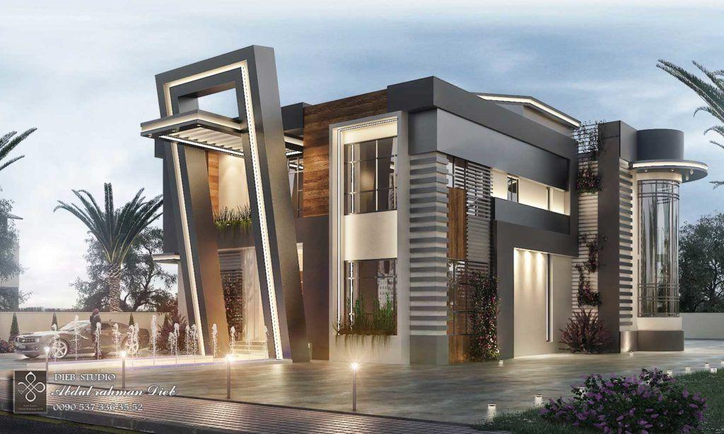 Post Modern Villa Dieb Studio Modern Architecture Building Modern Villa Design House Architecture Design