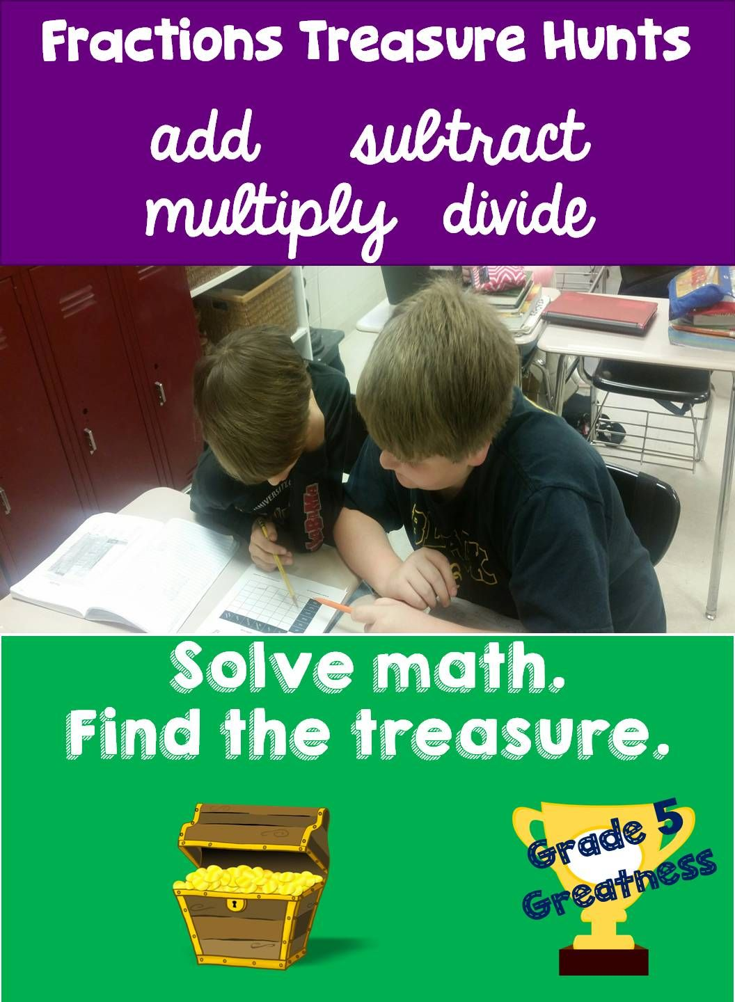 Add Subtract Multiply And Divide Fractions Fun