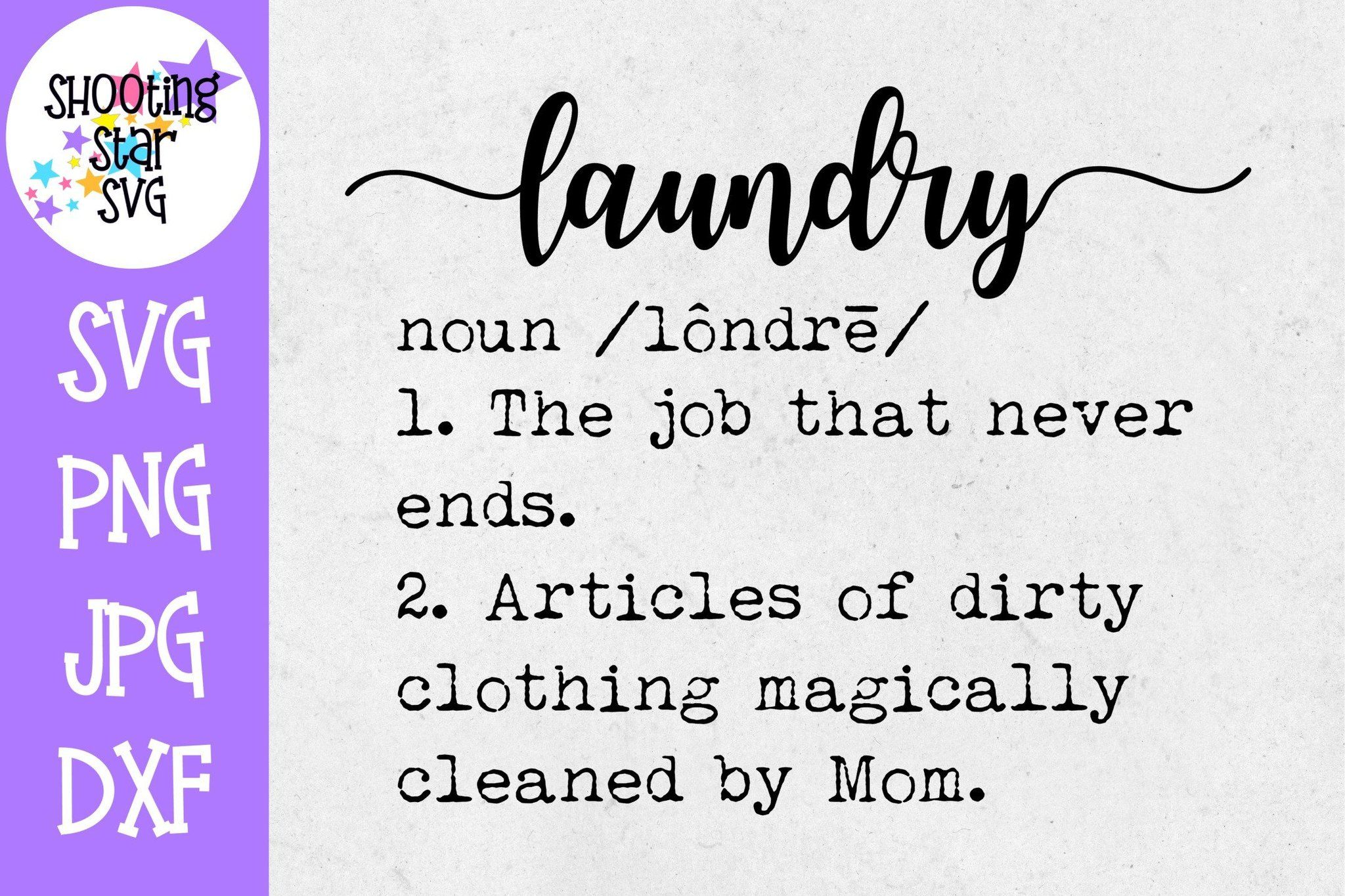 Laundry Definition SVG Funny Laundry Definition Decor