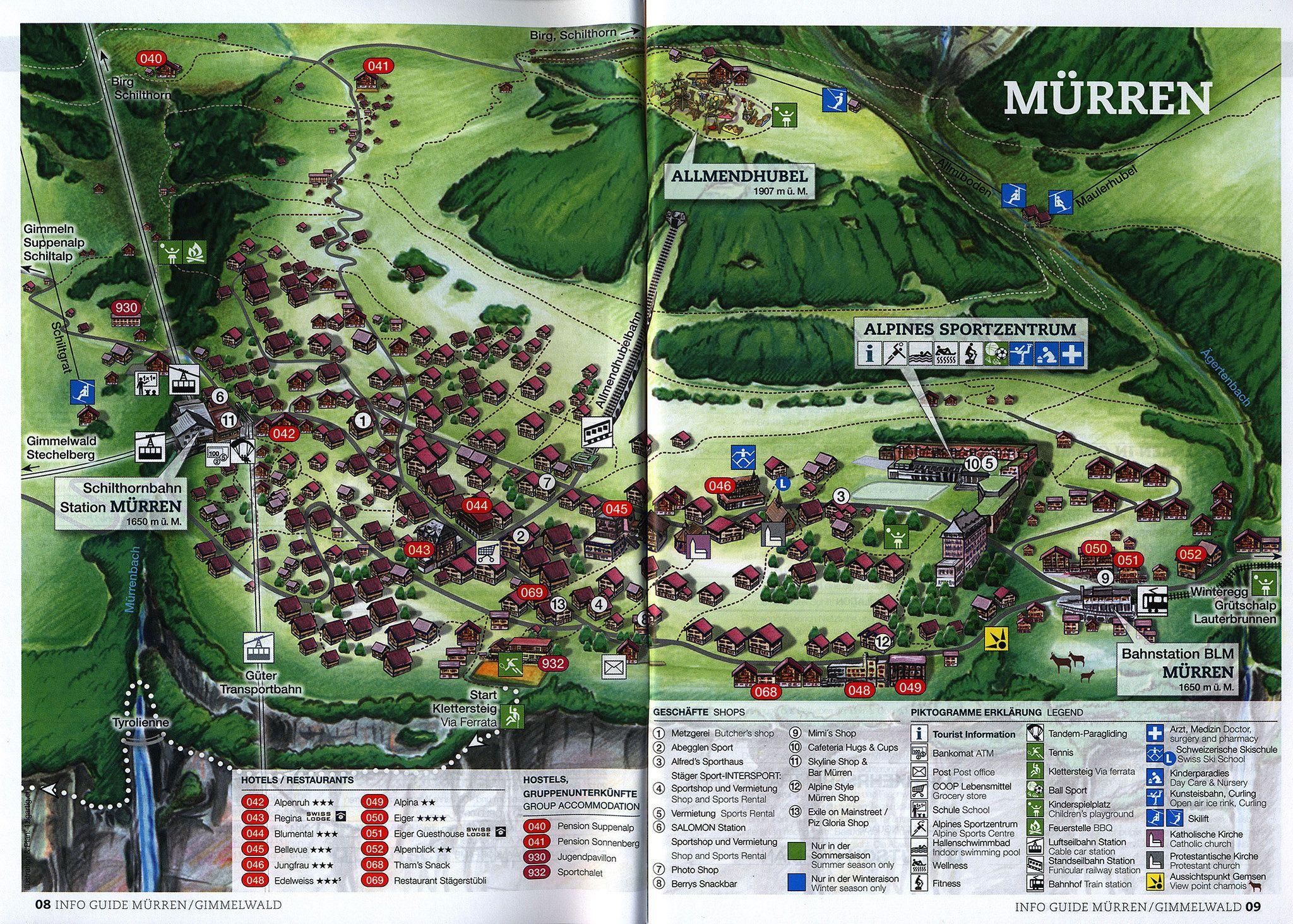 Lauterbrunnen Gimmelwald Mrren Info Guide Sommer Summer 20162