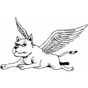 Dog With Wings Coloring Page Dogs Wings Coloring Pages