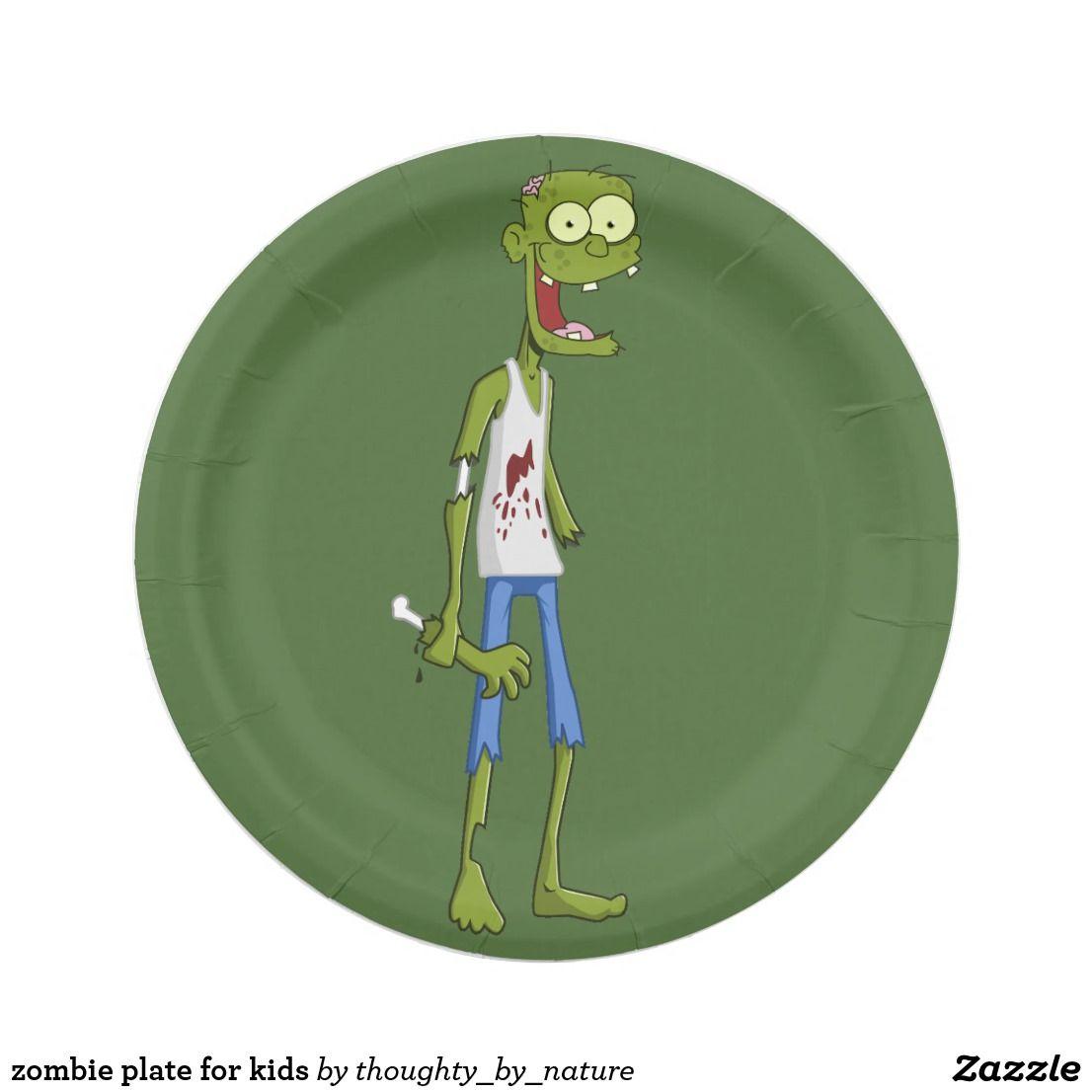 zombie plate for kids | Zazzle.com | Zombie plates, Zombie ...