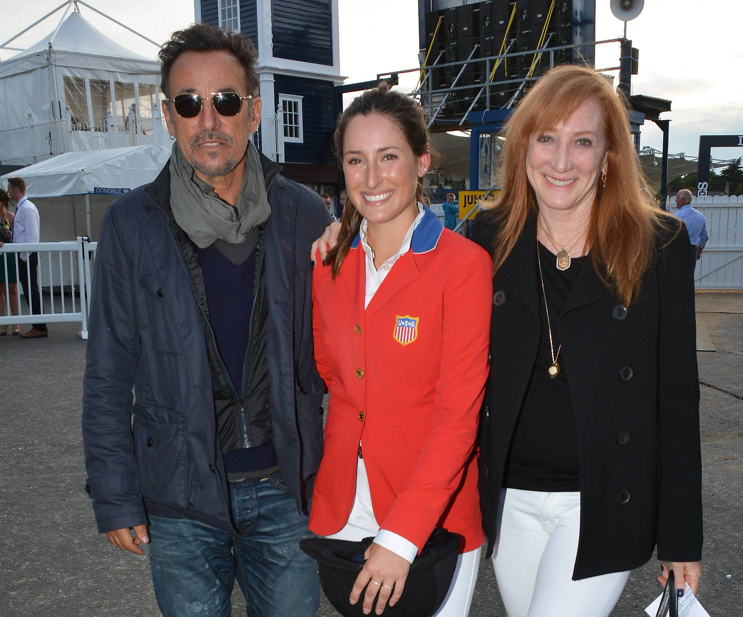 The Springsteens: Bruce, daughter Jessica, wife Patti