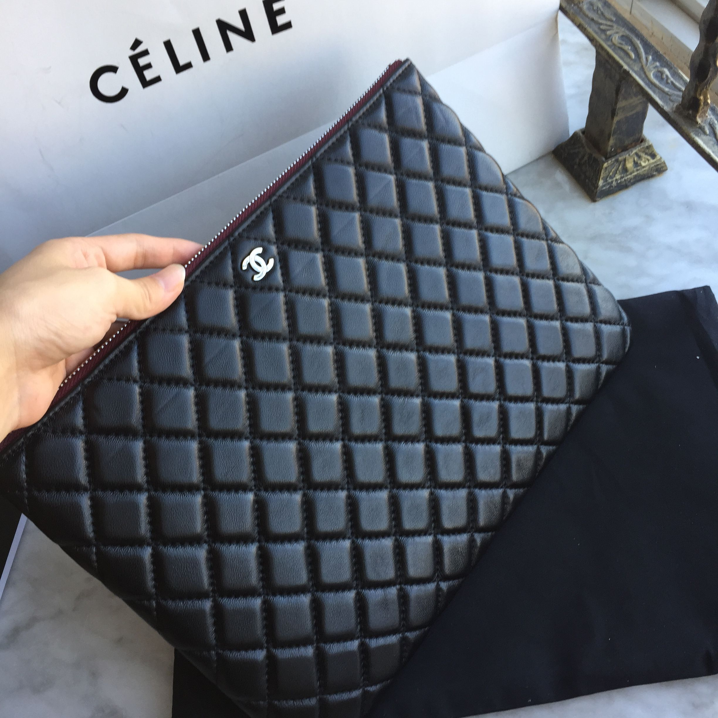 Chanel classic woman clutch purse quilted | Chanel bags ... : chanel quilted clutch bag - Adamdwight.com