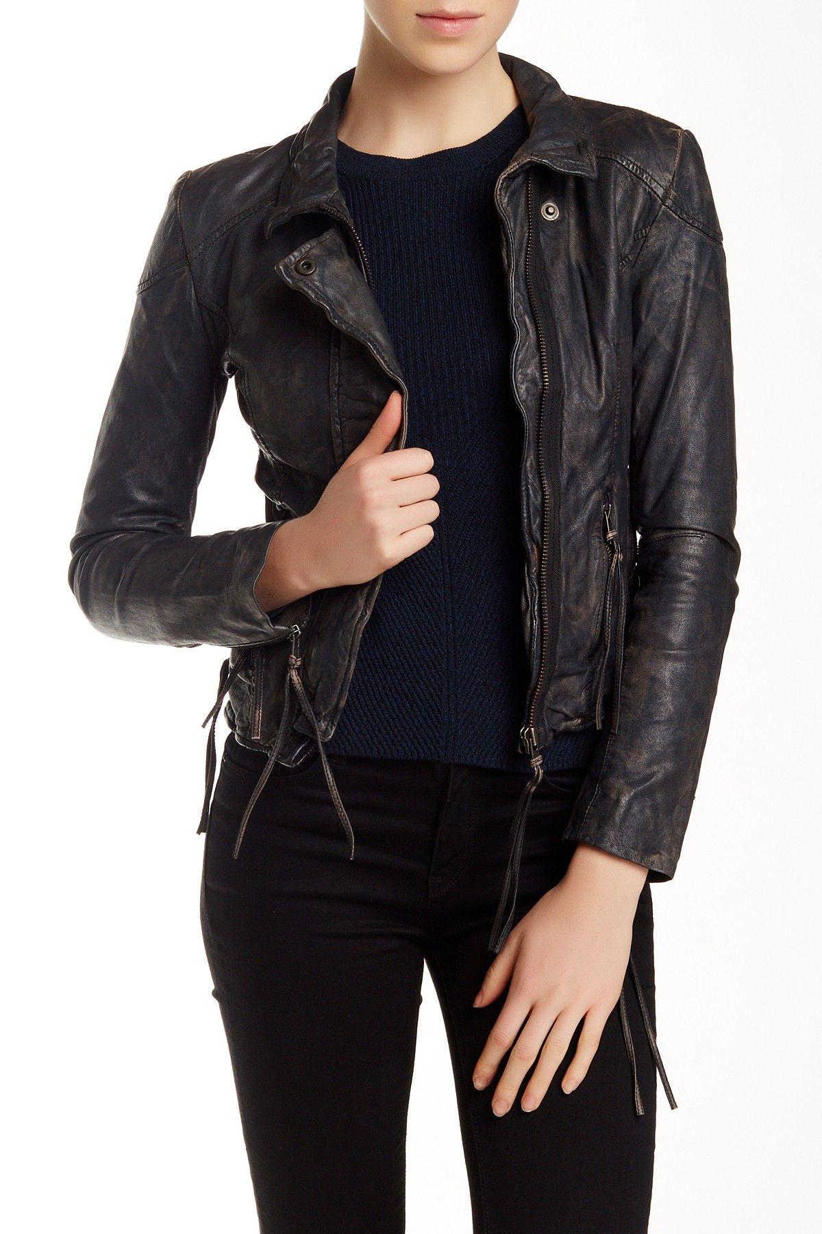On Hautelook Muubaa Galaxi Leather Biker Jacket Leather Jacket Style Jackets Biker Jacket [ 1800 x 1200 Pixel ]