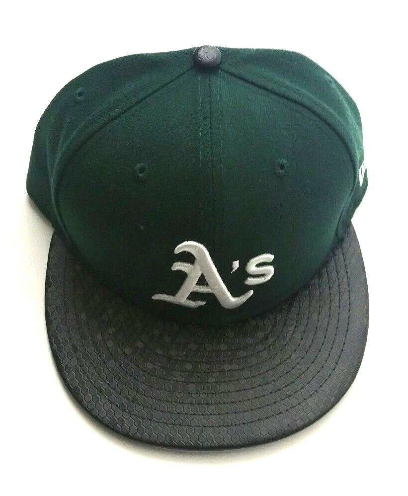 on sale 0482e fd8e9 Oakland A s New Era 59Fifty MLB Black Tile Visor Green Fitted Hat Size 7  5 8  Athletics  NewEra  BaseballCap