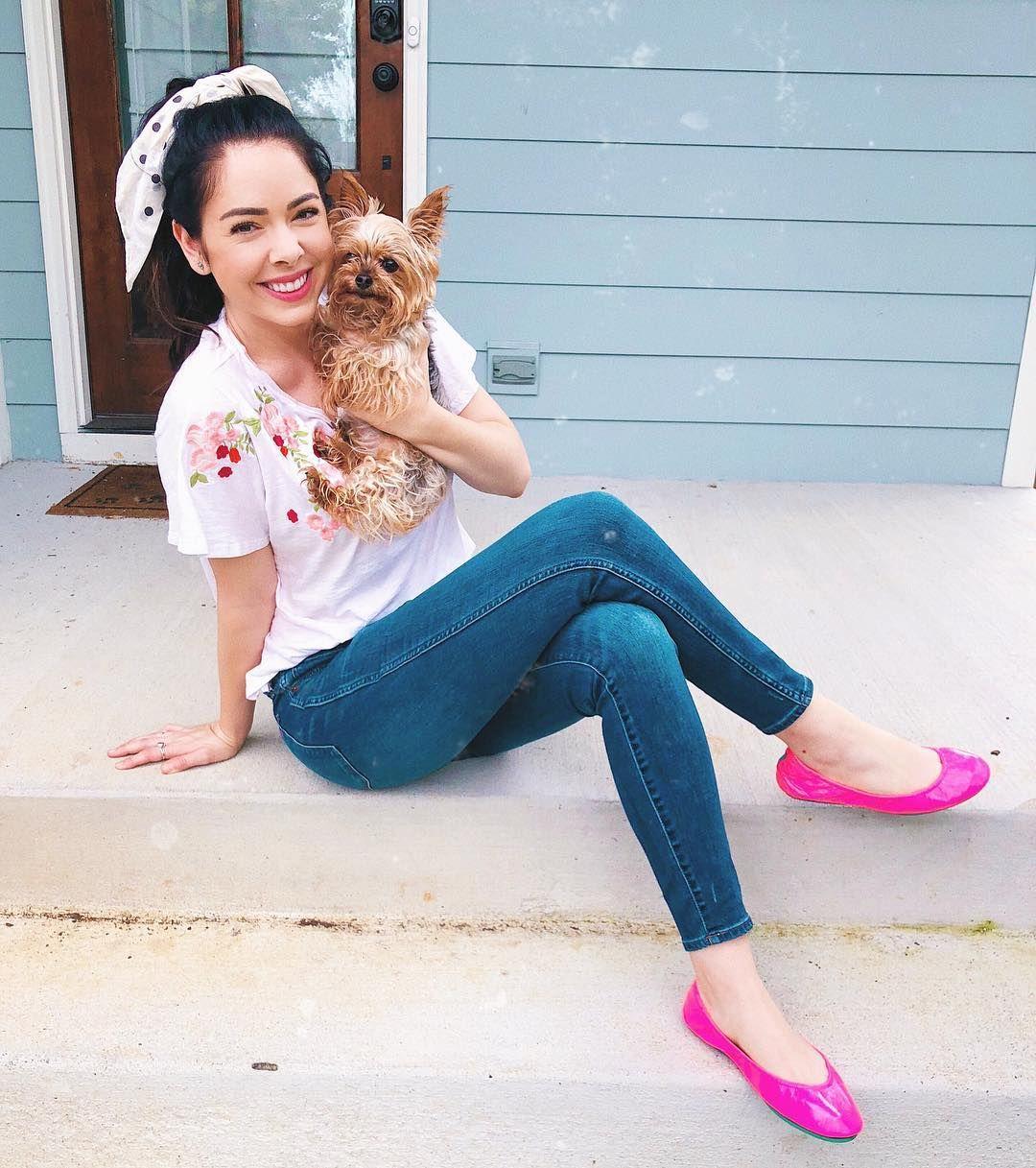 Pop Pink | Pink ballet flats outfit