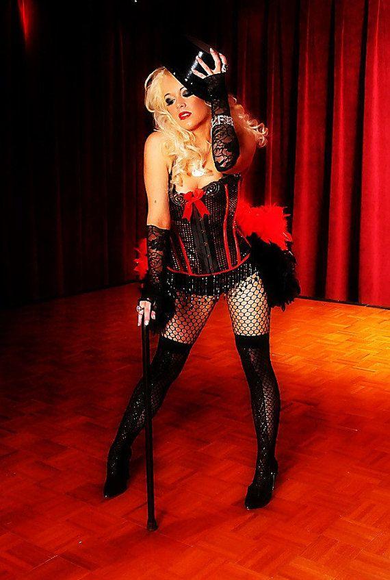 f88deaeaef DIVA Showgirl Costume Burlesque dress red black ringmaster gothic ...