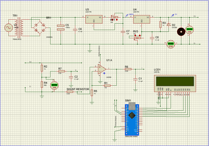 Wireless mobile charger circuit simulation