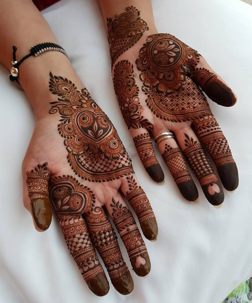 mehandi design back and front