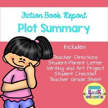 Plot Book Report Sandwich Story  Kids Reading And Students