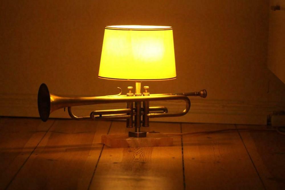 Handgefertigte Trompetenlampe Design Vintage Artywis 05c In