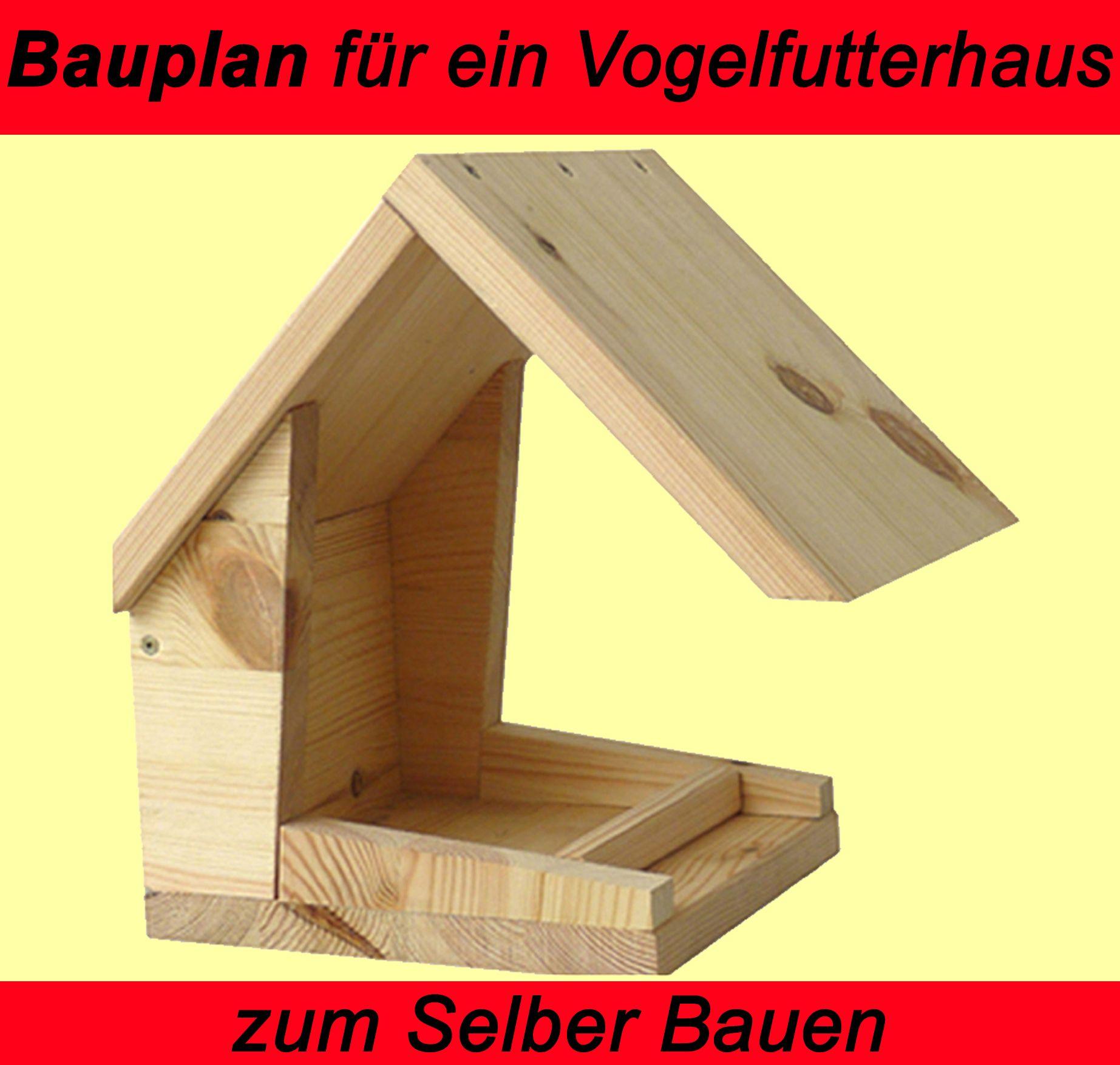 vogelh uschen als vogelfutterhaus aus holz mittels trenn biber stichs getisch und der eigenen. Black Bedroom Furniture Sets. Home Design Ideas