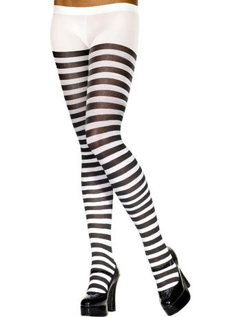 Striped Tights for Fancy Dress Costume Adult Womens