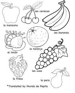Multilingual Printables Fruits And Vegetables In 7 Languages Spanish Worksheets Kindergarten Worksheets Coloring Worksheets For Kindergarten