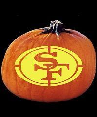 49ers pumpkin template  Forty Niner Tattoos   SpookMaster - NFL Football San ...