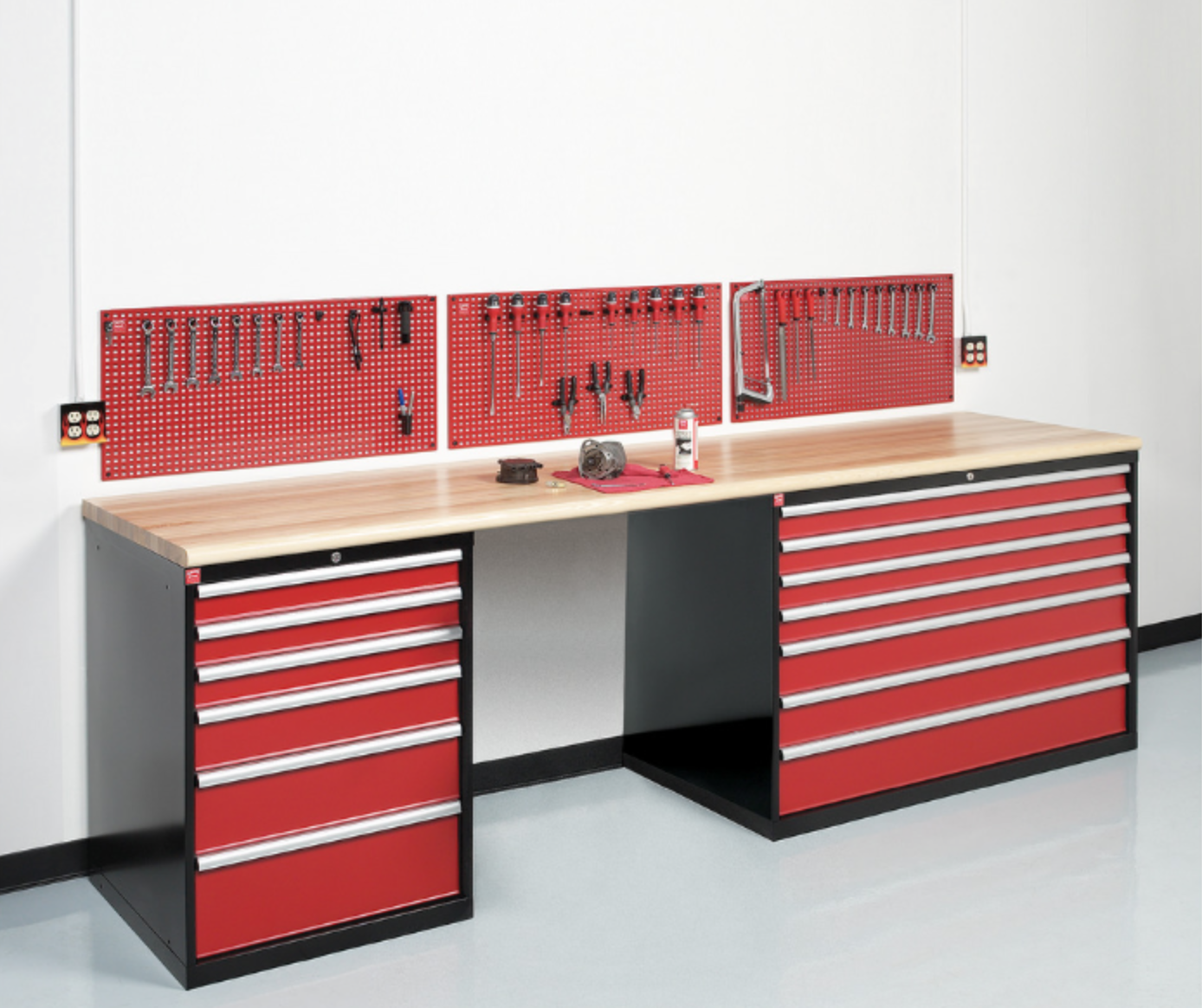 workstation cabinets slatwall transformations overhead recycle tire after wall station canoe storage refrigerator car rear work garbage garage brampton iconic right nuvo