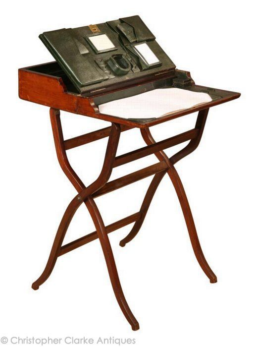 Antique Folding Campaign Desk, 1908 - Christopher Clarke Antiques - Antique Folding Campaign Desk, 1908 - Christopher Clarke Antiques