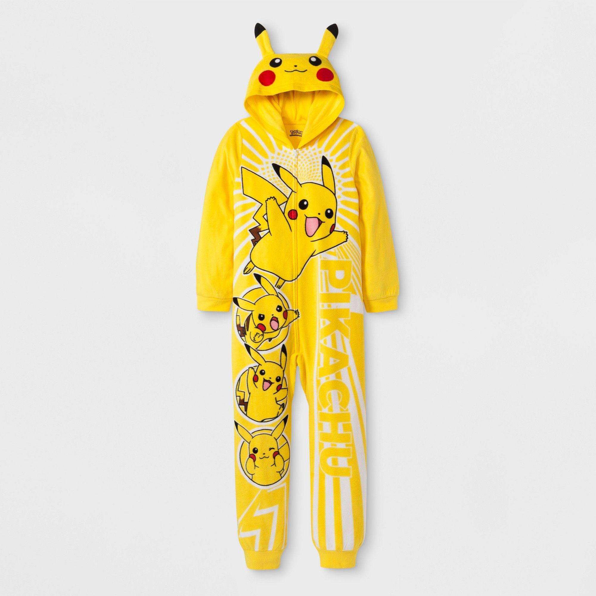 87e100050 Boys  Pokemon Union Suit - Yellow XS