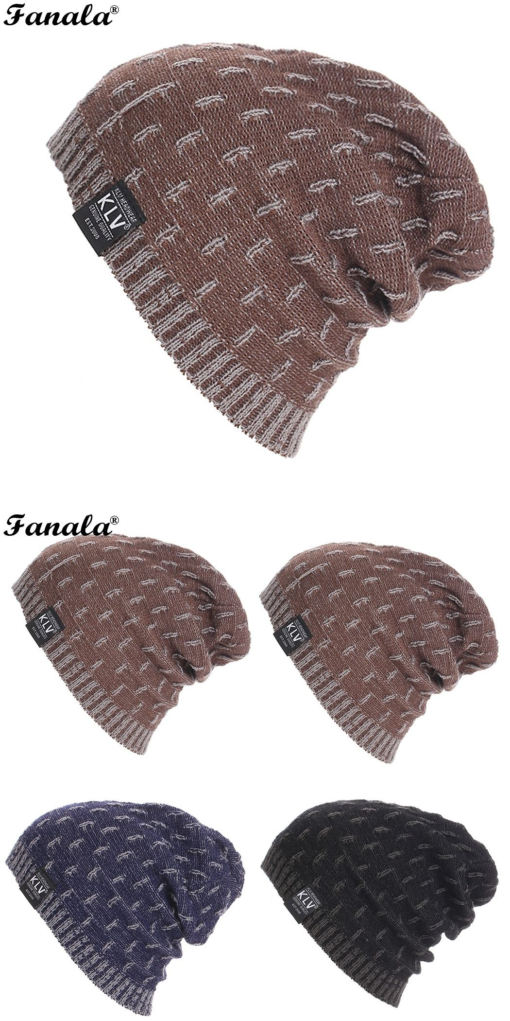 Mens Unisex Skullies Winter Hat Beanies Knitted Ski Cap Hat Hip Hop Warm  Skull Bonnet Hats 31e93100954d