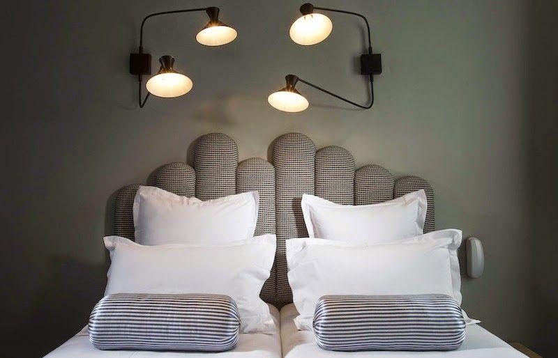 我們看到了。我們是生活@家。: 特別喜愛這個床頭板,圓形給人柔和感!這是位在巴黎第十區的Hotel Paradis