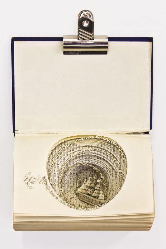Spiraling Book Sculpture Reflects the Struggles of OCD - My Modern Metropolis