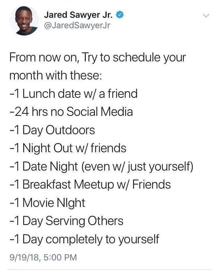 Monthly habits