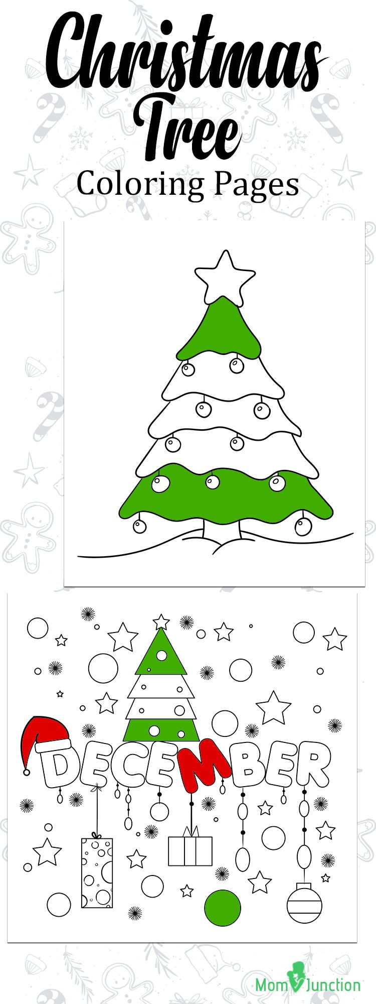 Top 35 Free Printable Christmas Tree Coloring Pages Online ...