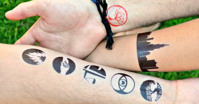 How To Make Temporary Tattoos For Divergent Make Temporary Tattoo Diy Temporary Tattoos Divergent Tattoo
