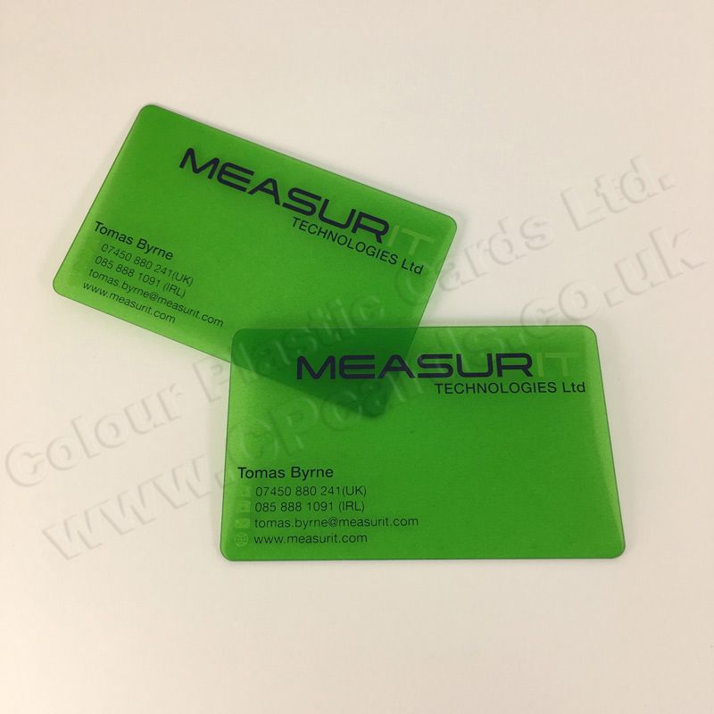 Frosted Translucent Plastic Business Cards. We offer free artwork ...