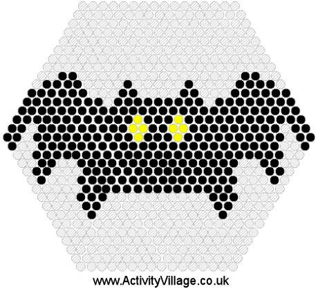 Halloween bat hama perler beads pattern
